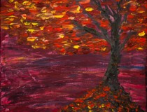 Art Collection: Burgundy Fall